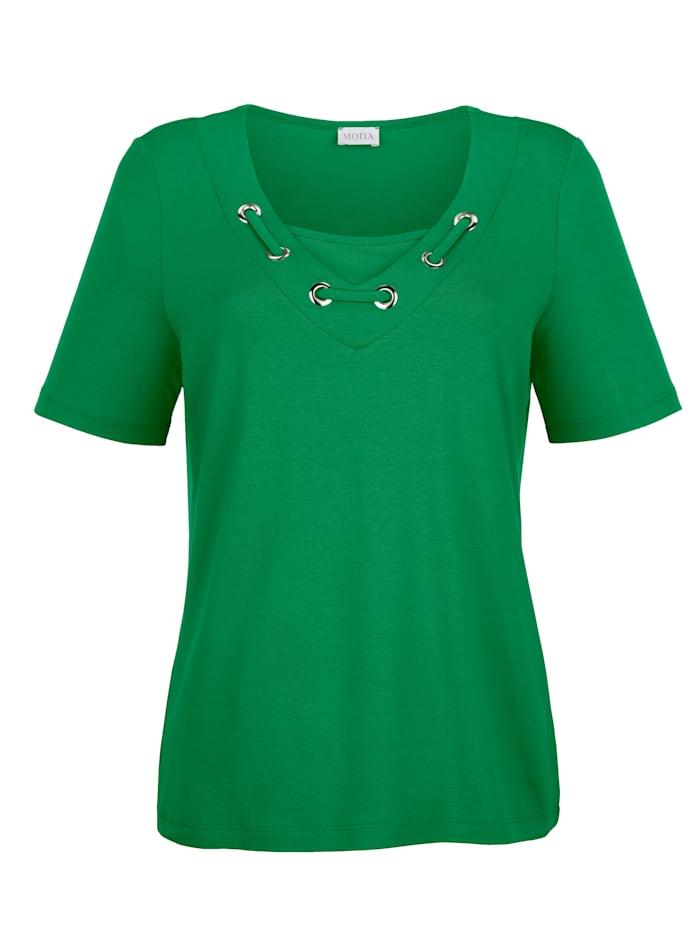 Shirt met geraffineerde hals