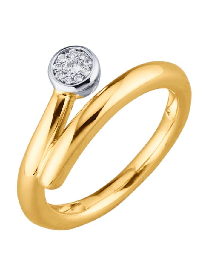 Diemer Diamant Damenring mit Diamanten, Gelbgoldfarben
