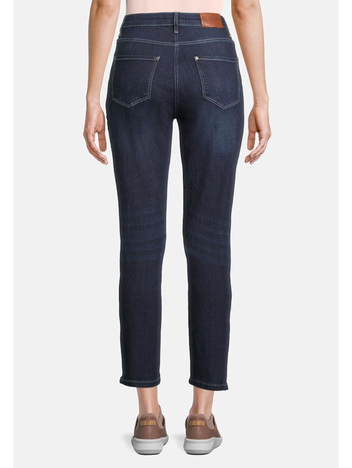 Slim Fit-Jeans mit Reißverschluss Reißverschluss