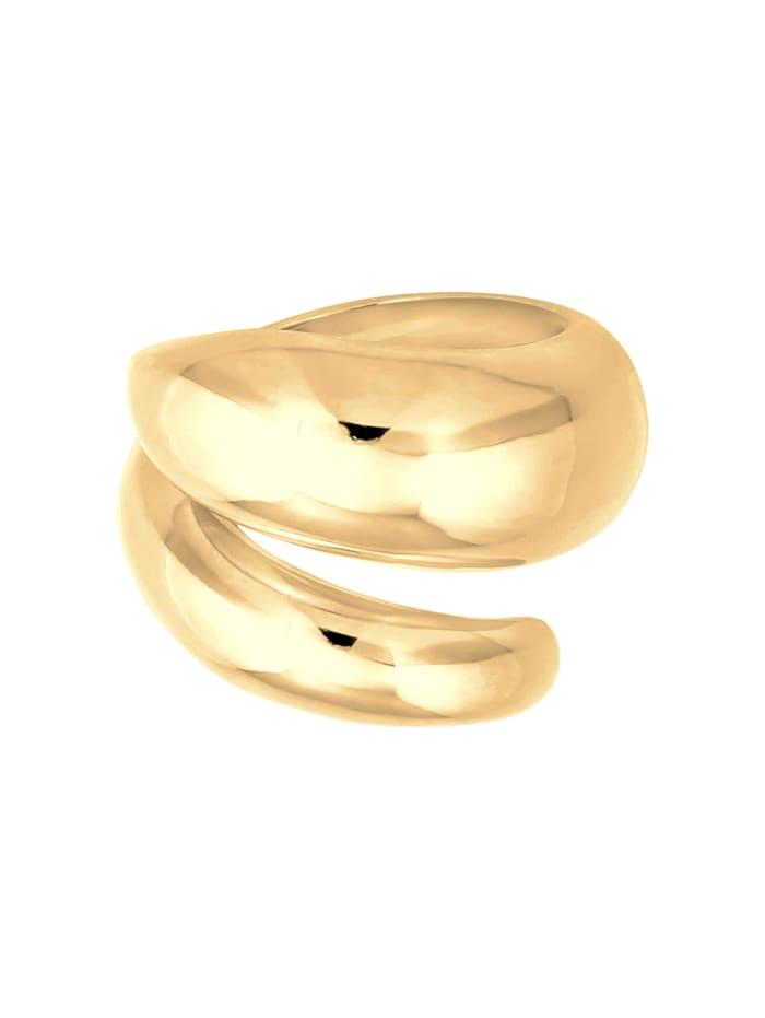 Ring Wickelring Glänzend Modern Statement 925 Silber