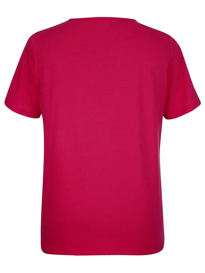 Shirt mit hübscher Häkelspitze vorne am Ausschnitt