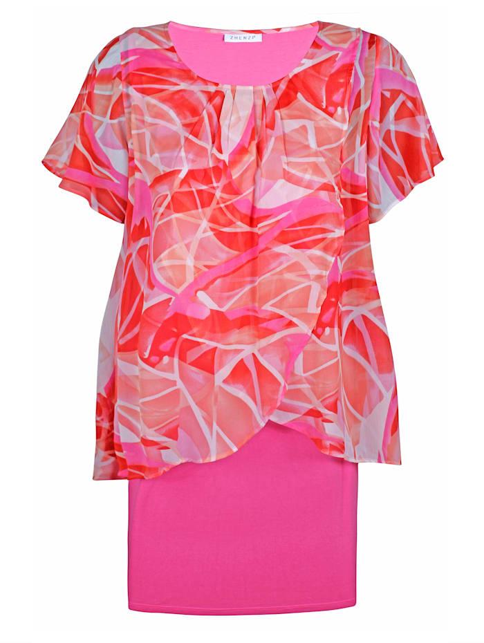 2-in-1-Kleid mit Allover-Print