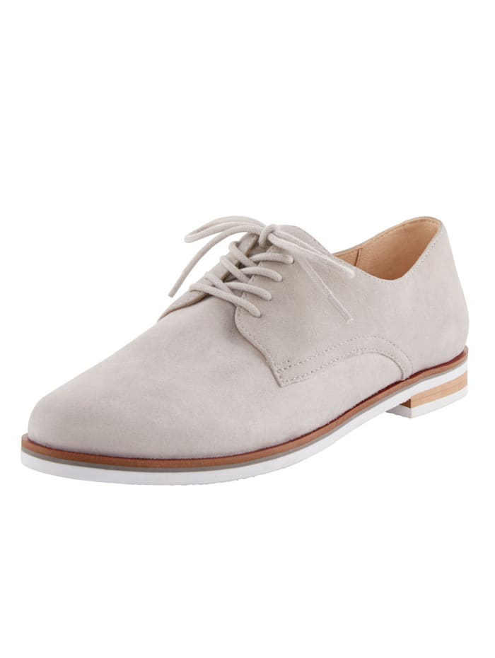 MONA Lace-up shoes in a classic design, Light Grey