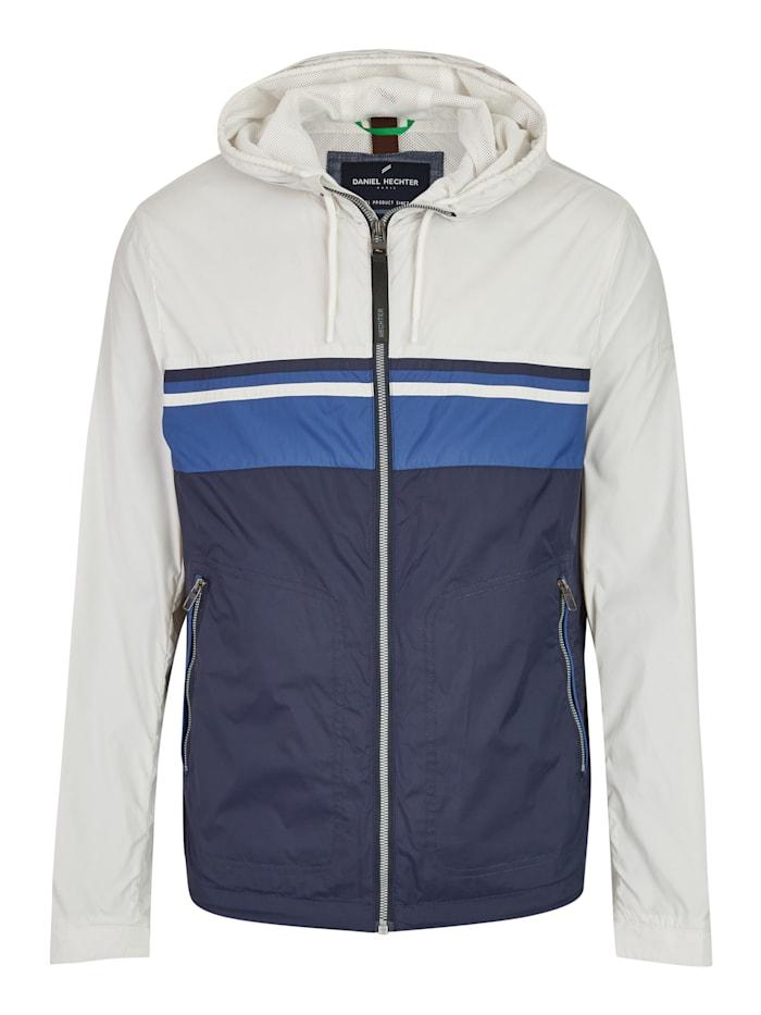Daniel Hechter DH-ECO Wasserabweisende Jacke mit Kapuze, offwhite