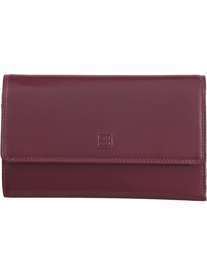 DuDu Geldbörse RFID Leder 17,5 cm, burgundy