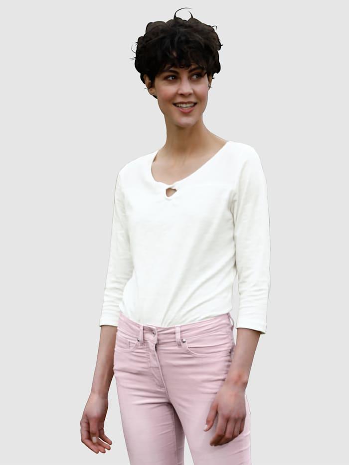 Dress In Shirt mit schönem Ausschnitt, Off-white