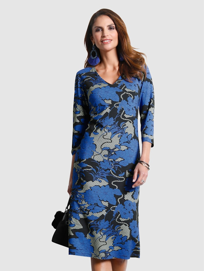 Jersey dress with an eye-catching floral print