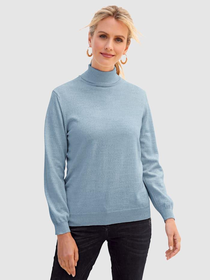 MONA Rollkragen-Pullover mit Merino-Schurwolle, Hellblau