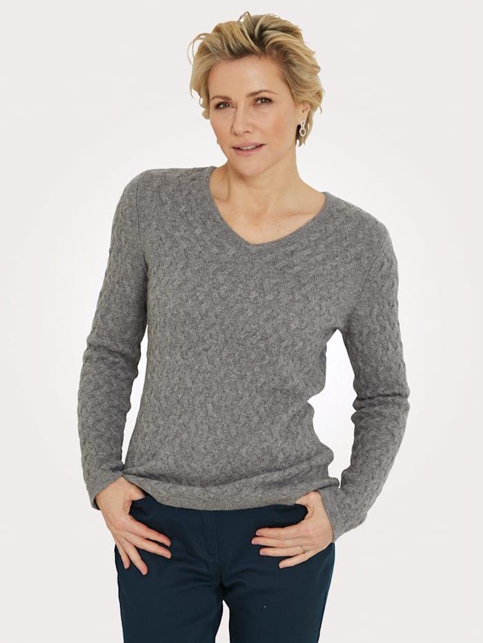 MONA Pullover aus reinem Kaschmir, Grau