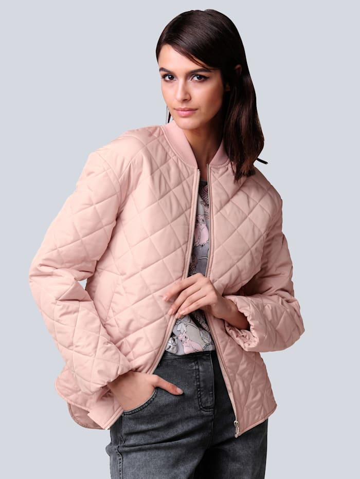 Alba Moda Steppjacke in modisch neuer Form, Rosé