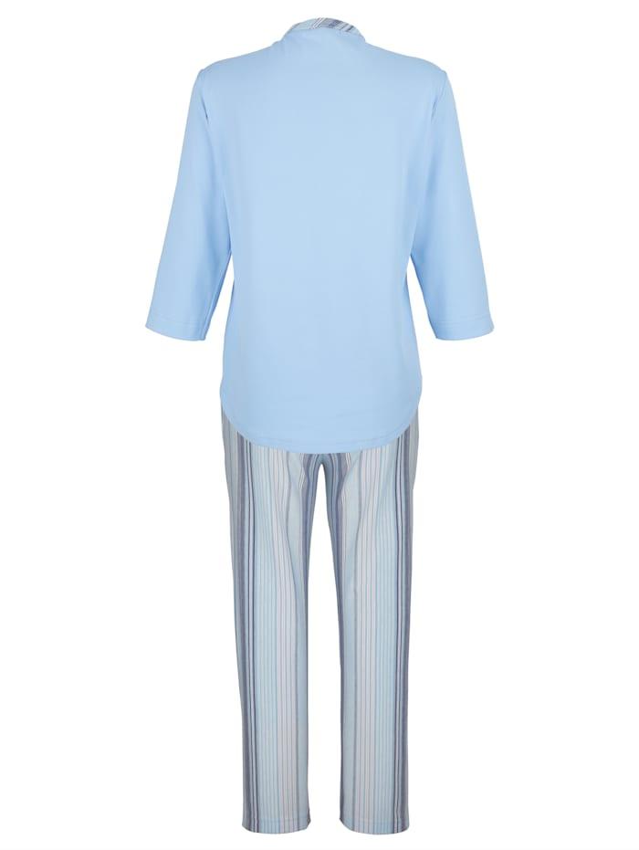Schlafanzug mit aufgesetzter Tasche