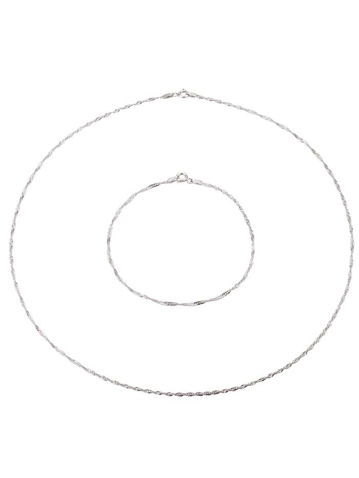 6tlg. Schmuck-Set in Silber 925