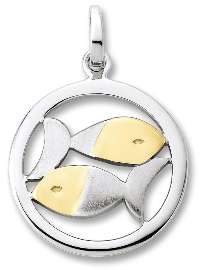 One Element Damen Schmuck Sternzeichen Anhänger Fische aus 925 Silber, silber