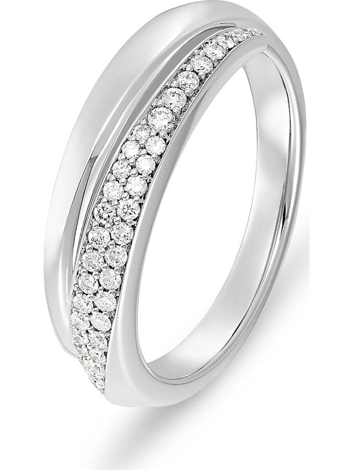 CHRIST C-Collection CHRIST Damen-Damenring 585er Weißgold 40 Diamant, Weißgold
