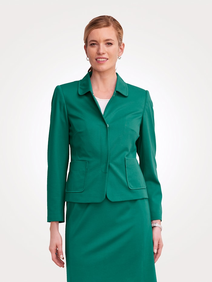 MONA Blazer made from soft stretch jersey, Emerald