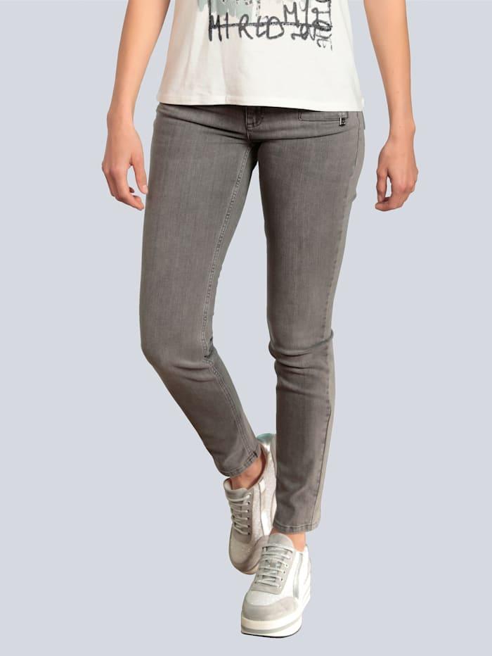 OUI Jeans mit aufwendiger Taschengestaltung, Grey