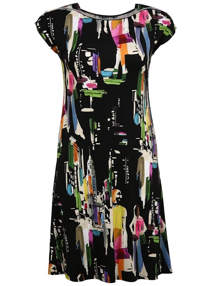 Doris Streich Sommerkleid mit Allover-Muster, multicolor