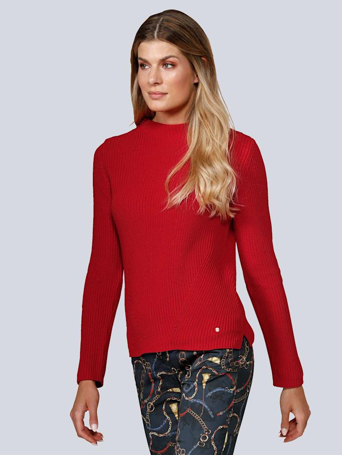 BRAX Pullover mit Rundhalsausschnitt, Rot