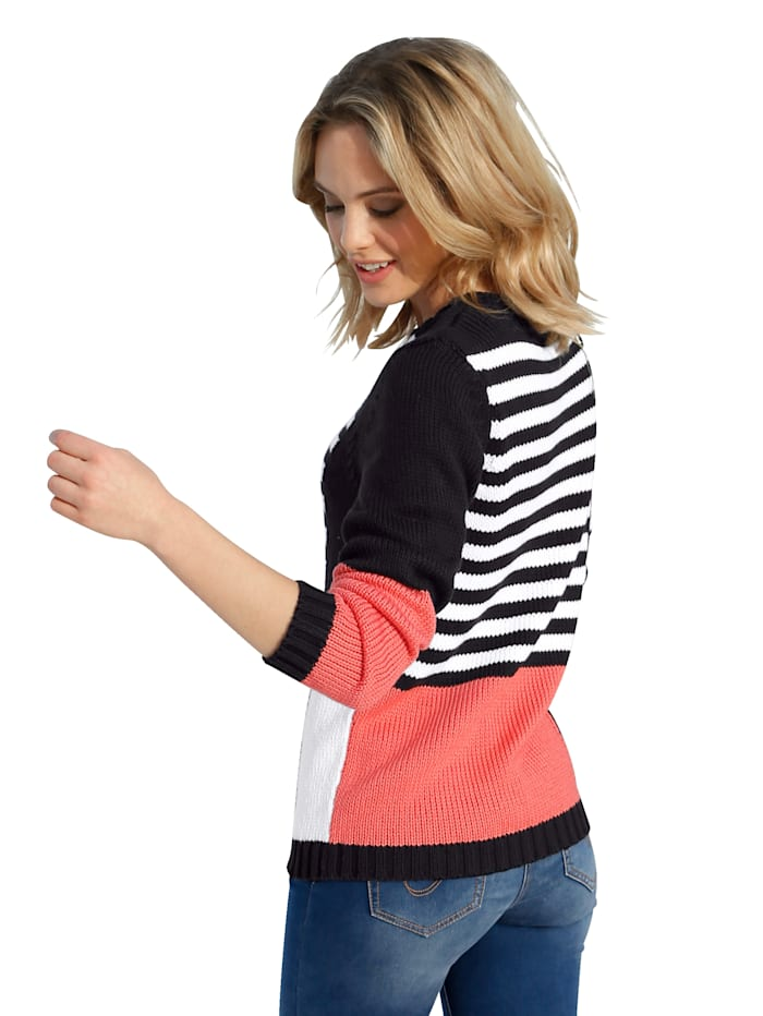 Pull-over d'aspect patchwork