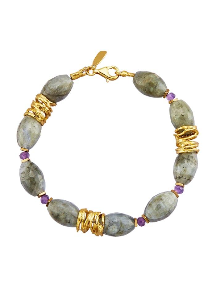 Armband med vackra stenar, Guldfärgad