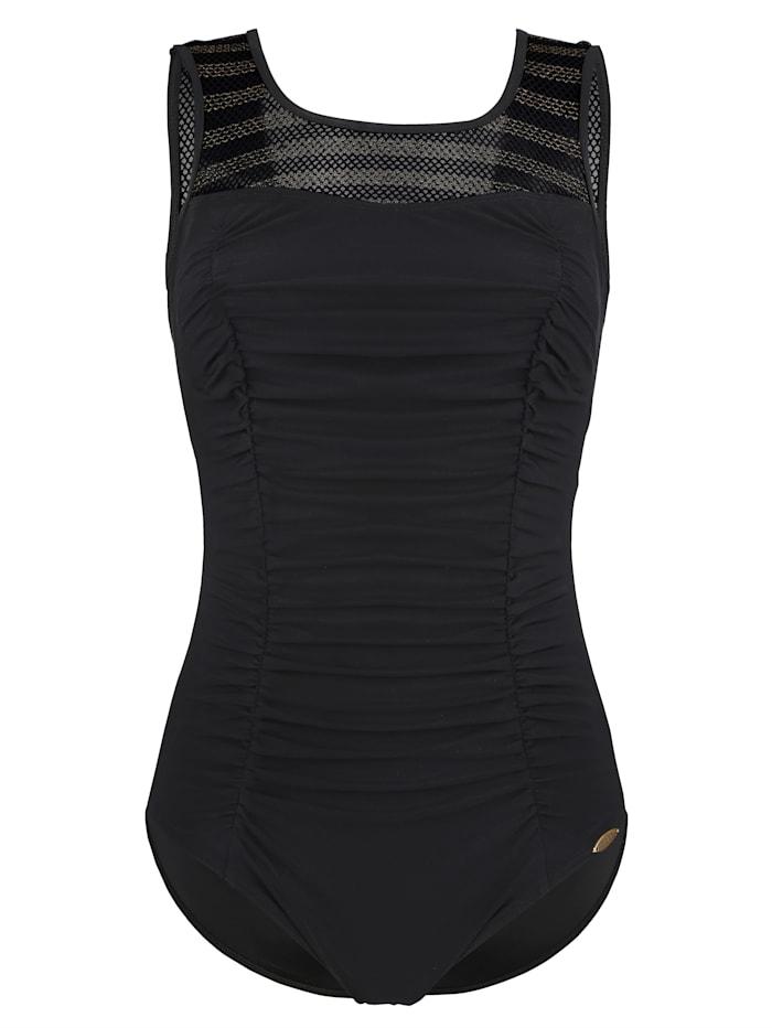 Sunflair Prothesenbadeanzug mit Netz, Schwarz