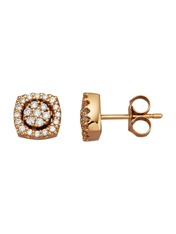 Amara Diamants Boucles d'oreilles à 46 brillants, Coloris or jaune