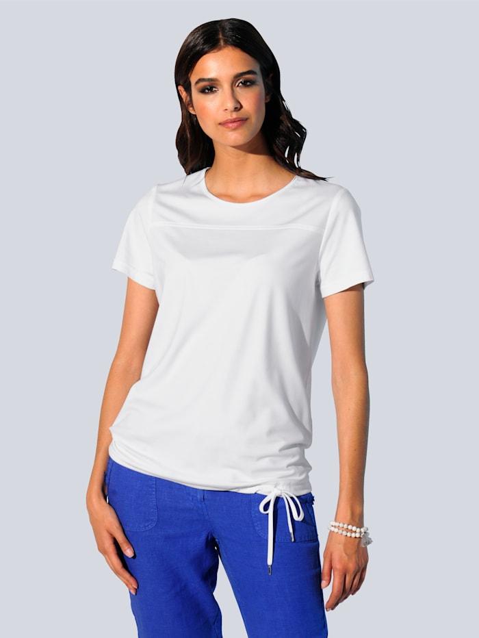 Alba Moda Shirt in schön fließender Viskose-Mischung, Weiß