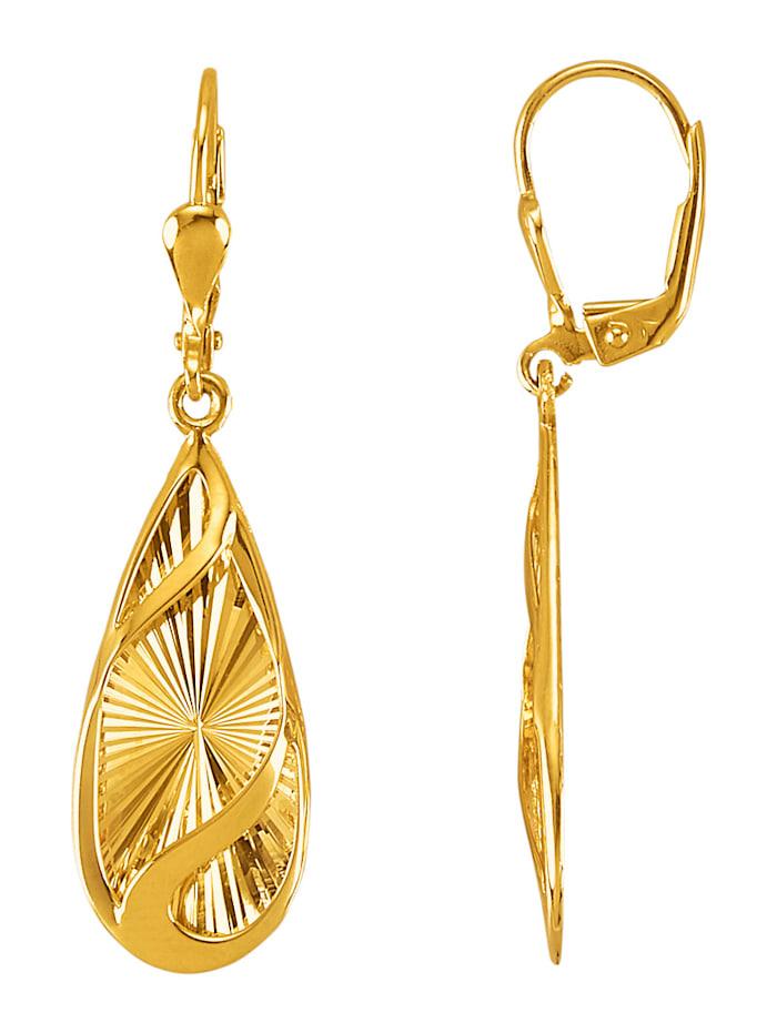 Örhängen i 9 k guld, Guldfärgad