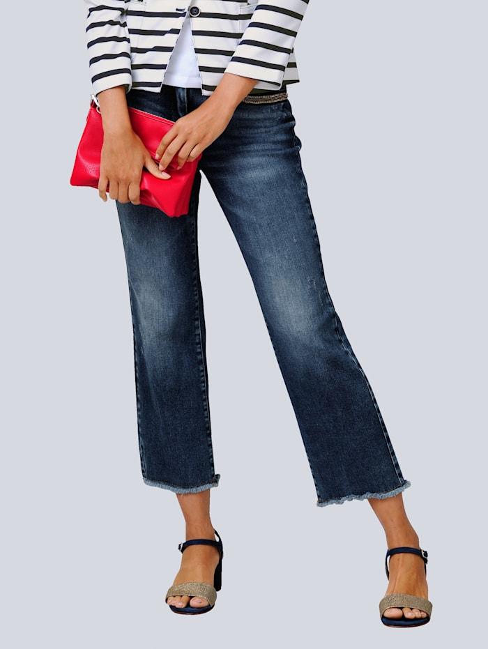 Alba Moda Jeans in modieus culottemodel, Blauw