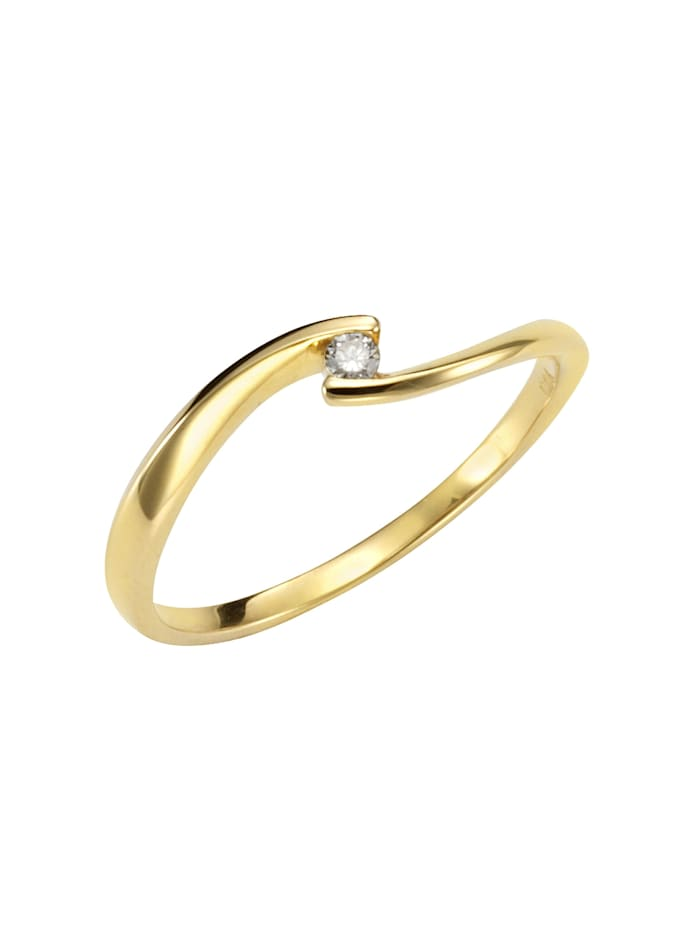 Orolino Ring 585/- Gold Brillant weiß Brillant Glänzend 0,04ct. 585/- Gold, gelb