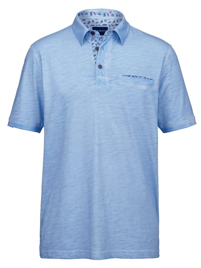 BABISTA Poloshirt mit bedrucktes Details, Hellblau