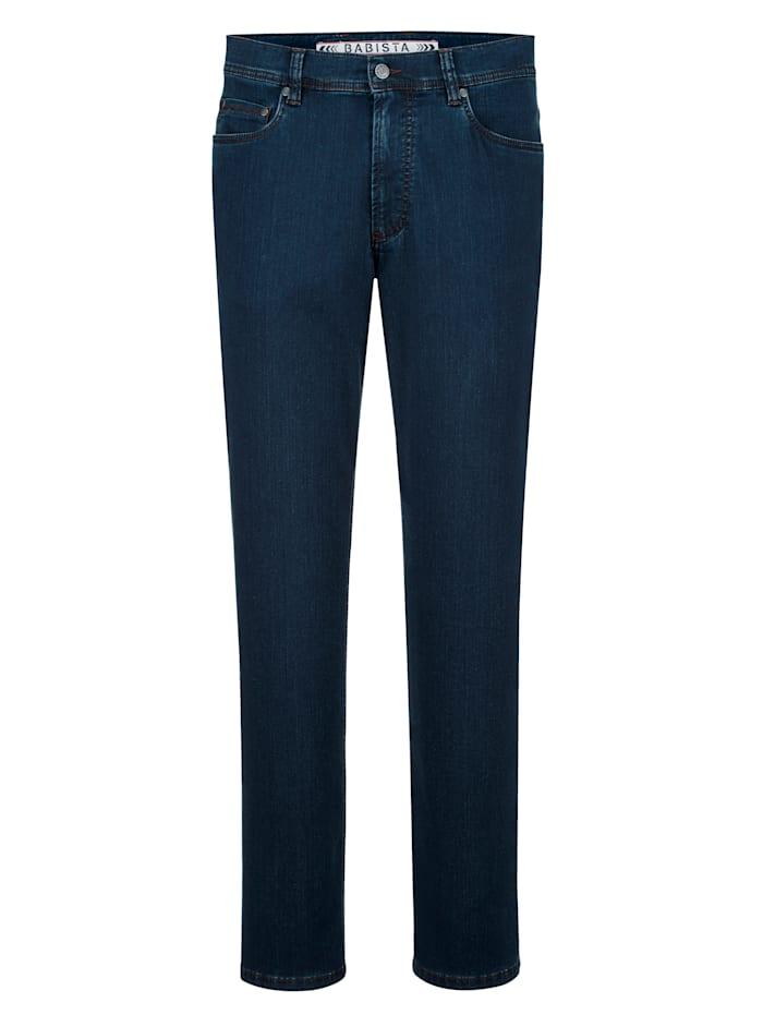 BABISTA Jeans i mjukt material med lyocell, Blå