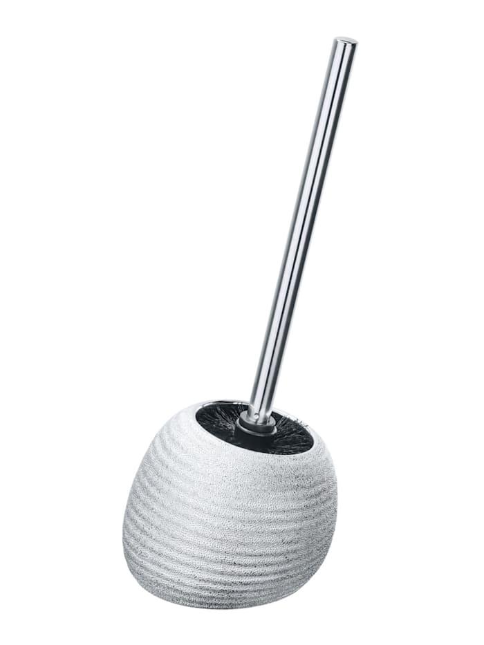 Wenko WC-Garnitur Polaris Juwel Silber, aus hochwertiger Keramik, Silber
