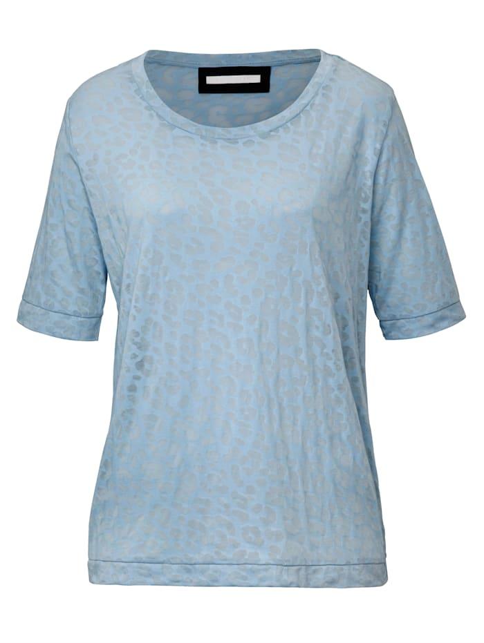 REKEN MAAR T-Shirt mit Leo-Ausbrenner, Hellblau