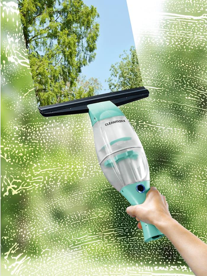 Nettoyeur pour vitres à batterie CLEANmaxx, avec manche télescopique pratique