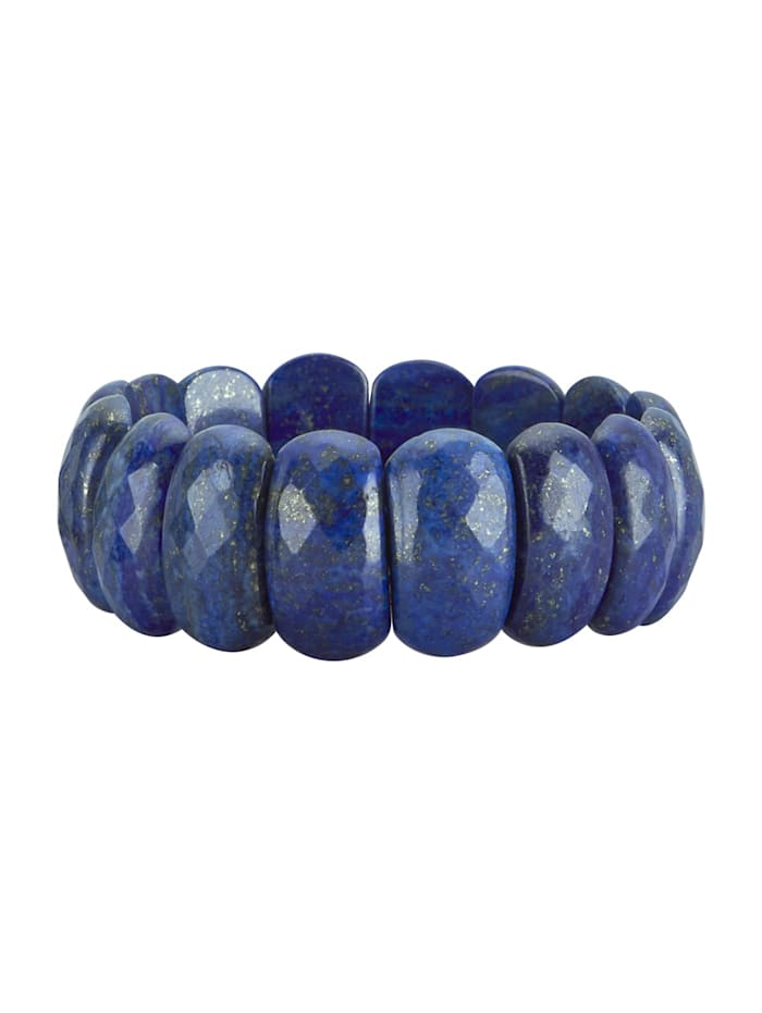 Armband met lapis lazuli (beh.), Blauw