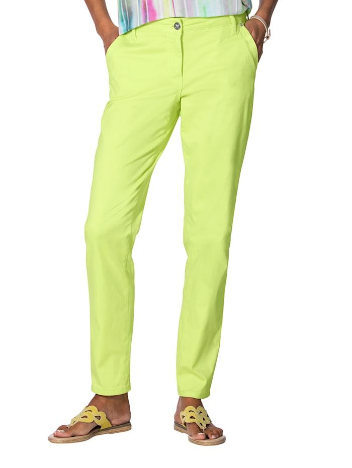 AMY VERMONT Chinohose in angesagten Farben, Neongrün