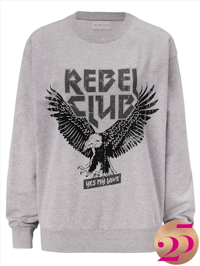 YES MY LOVE Sweatshirt mit Print, Jubiläumskollektion, Grau