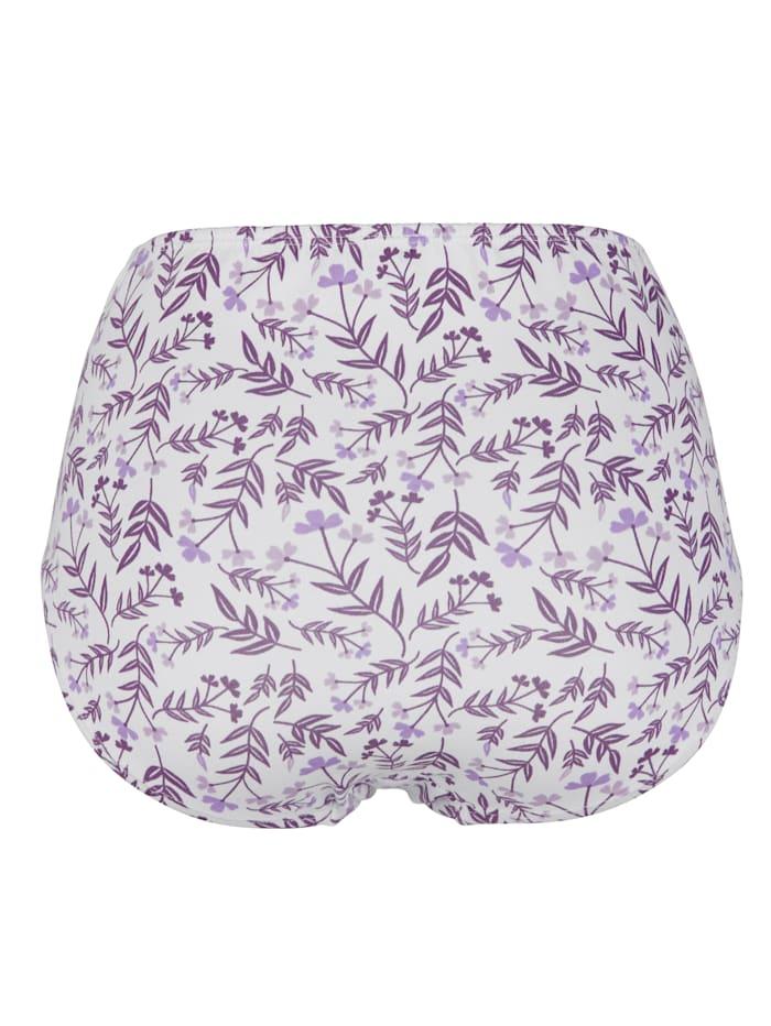 Taillenslips mit hübschem Blumendruck 4er Pack