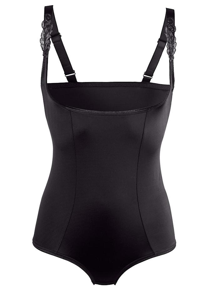 Harmony Shapewear Body im Vorderteil doppellagig gearbeitet, Schwarz