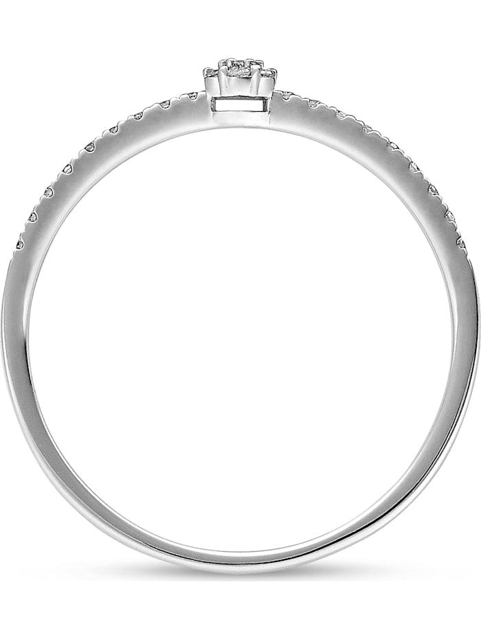 CHRIST Diamonds Damen-Damenring 375er Weißgold 25 Diamant