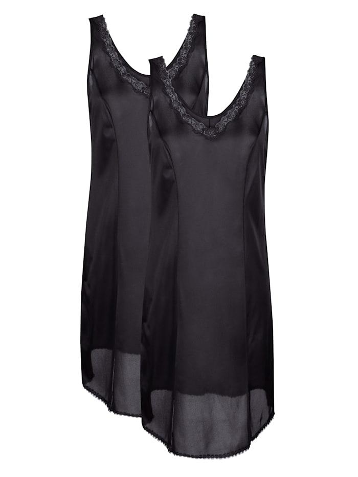 Südtrikot Fond de robe, Noir
