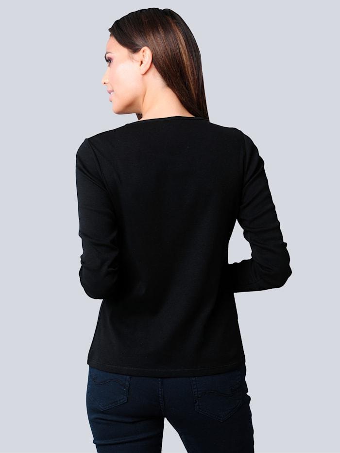 Shirt mit effektvollem Saumabschluss