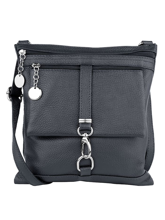 Shoulder bag with decorative buckle