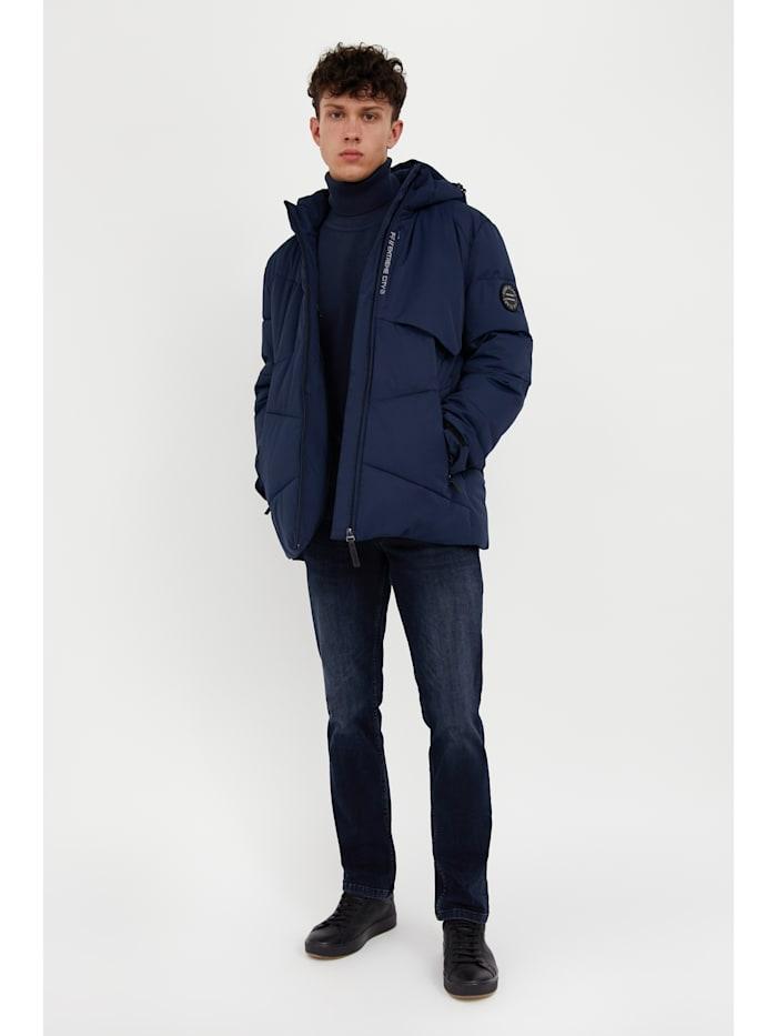 Jacke mit modernem Steppdesign