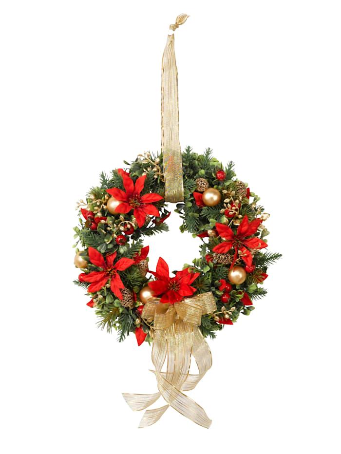 Joulutähtikranssi, monivärinen