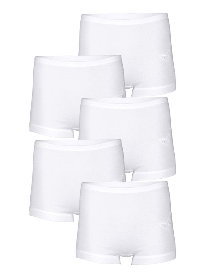 Viania Lahkeelliset alushousut 5/pakkaus, valkoinen