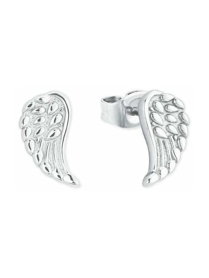 amor Ohrstecker für Damen, Sterling Silber 925, Flügel, Silber