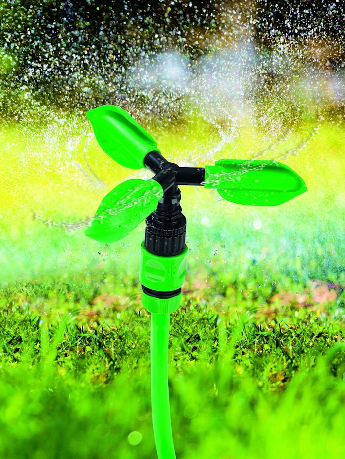 EASYmaxx EASYmaxx Gartensprinkler-System mit Flexi-Schlauch & 2 Aufsätzen, grün