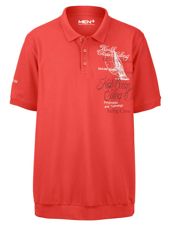 Men Plus Poloshirt, Oranje